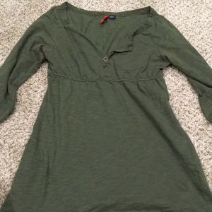 💠3 for $20💠H&M olive green 1/2 sleeve top